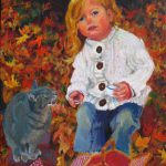 Hazel and Chester, oil on canvas, 8x10, 2008 portrait commission