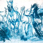 HorsesInBlue22x30