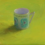 Little Cup, oil on gessoboard, 5x5, 2017 sold
