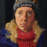 Self-Portrait Winter, oil on masonite, 7x9, 2012 unavailable