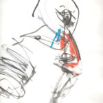 Taiko Drummer Life Drawing