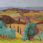 Umbrian Hills, oil linen on board, 8x12, 2016 family